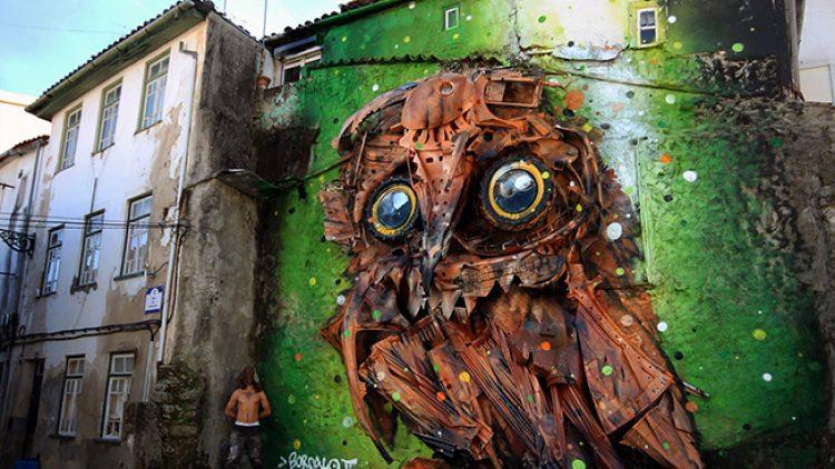Inspiração: sucata que vira arte de rua