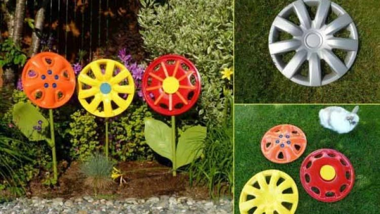 Decorar jardins com ferro velho: experimente essa ideia.